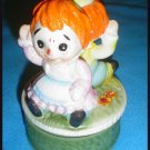 Vintage Raggedy Ann And Andy Music Box Japan Antique