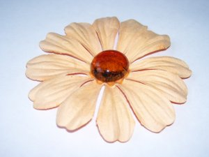Marbled Daisies � Peach & Amber - Large