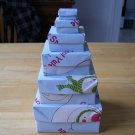 Origami boxes – Nested Let It Snow Squares