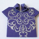 Origami Outfits – Chinese Mandarin Shirt - Purple & Silver