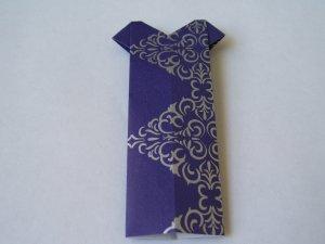 Origami Outfits � Hawaiian Mu�uMu�u - Purple & Silver