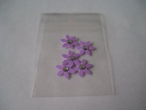 Daisy 6 � Purple Blinged with backing