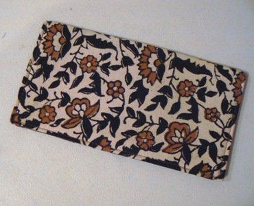 Floral Print Checkbook Cover