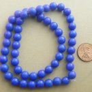 Mountain Jade Beads Round 8mm Strand - Turquoise Blue