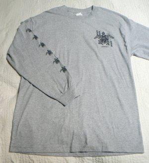 Long Sleeve Hawaiin T-Shirt w/ Sea Turtles