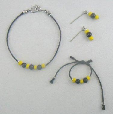 Jewelry Set for 18 Inch Doll like American Girl - Earrings Bracelet Necklace - Handmade