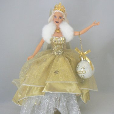 Holiday Celebration Mattel Barbie Doll 2000 Blonde Gold Gown NO BOX