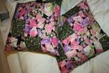 Asian Patchwork Throw Pillows Set of 2