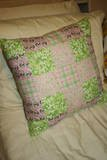 Shabby Patchwork Pink and Green Pillow