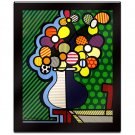 Flowers in Vase by Britto Laminated Wall Ready Art 27 x 32