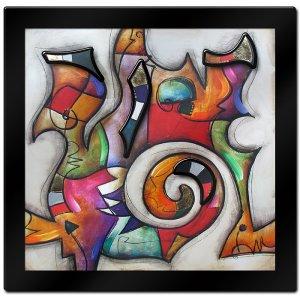Swirl II by Eric Waugh 3-D Mounted Laminated Art 41 x 41