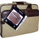 Samsonite Tan Canvas Portfolio Laptop Case