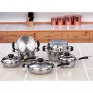 Chef's Secret 10pc 12-Element Surgical Stainless Steel Cookware Set
