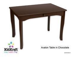 KidKraft Avalon Table- Chocolate