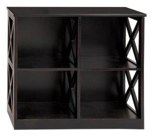 """Antiqued Black Sanded Terra Cota Wood Cabinet Shelf 28"""""""