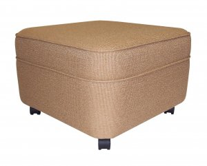 NW Enterprises Caramel Fabric Square Extra Large Ottoman