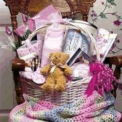 Baby Bountiful Deluxe - Girl Gift Basket