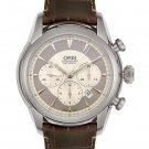 Oris Men's Artelier Automatic Chronograph Brown Leather