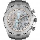 SWISS LEGEND Men's Chronograph White Mother Of Pearl Dial Tungsten