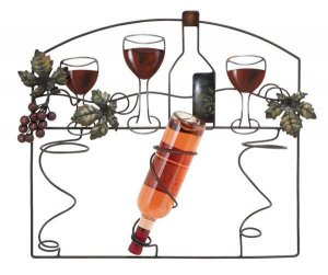 Chateau Metal Wall Wine Rack Barware