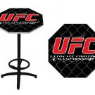 UFC Octagon Pub Table with Black Metal Legs