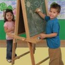 KidKraft Deluxe Wood Easel in Natural