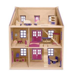 Melissa and Doug Multi-Level Solid Wood Dollhouse