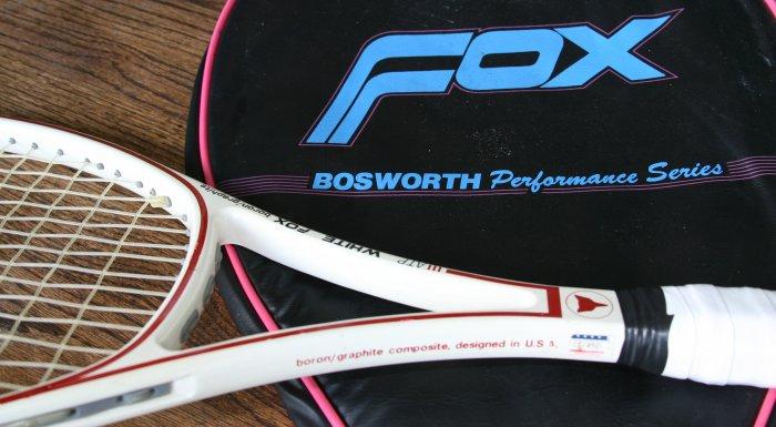 white fox bosworth graphite tennis racket