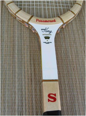 paramount speed king wood tennis racket