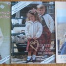 Lot of 3 ARAN Knitting Pattern Books Plymouth Yarn Knit