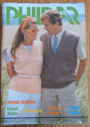 PHILDAR Mailles Knitting Pattern #80 Book Sweaters Knit