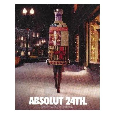 ABSOLUT 24TH Vodka Magazine Ad