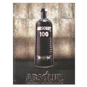 ABSOLUT 100 Vodka Magazine Ad