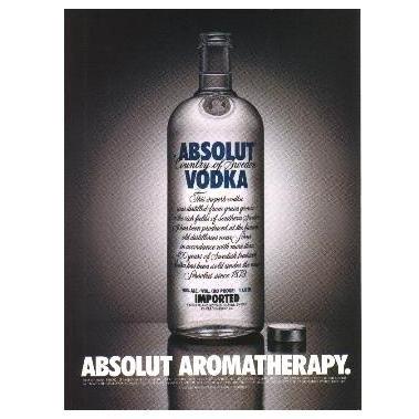 ABSOLUT AROMATHERAPY Vodka Magazine Ad