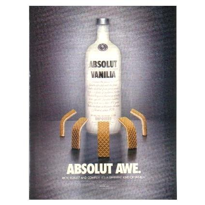 ABSOLUT AWE Vanilia Vodka Magazine Ad