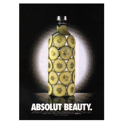 ABSOLUT BEAUTY Vodka Magazine Ad