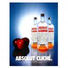 ABSOLUT CLICHÉ Vodka Magazine Ad