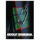 ABSOLUT EDINBURGH Vodka Magazine Ad
