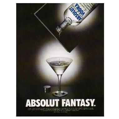 ABSOLUT FANTASY Vodka Magazine Ad