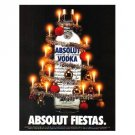 ABSOLUT FIESTAS Spanish Language Vodka Magazine Ad