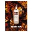 ABSOLUT FLOAT Vodka Magazine Ad