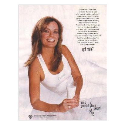 DIANE HEAVIN (of Curves) got milk? Milk Mustache Magazine Ad Copyright © 2005