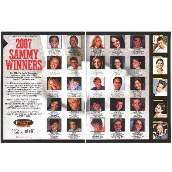 2007 SAMMY WINNERS got milk? Milk Mustache 2-Page Magazine Ad