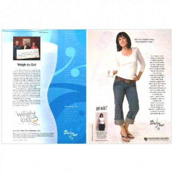 ROBIN SEABER & GREAT AMERICAN WEIGHT LOSS CHALLENGE got milk? Milk Mustache Magazine Ad © 2006 2pp