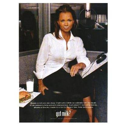 VANESSA WILLIAMS got milk? Milk Mustache Magazine Ad © 1998