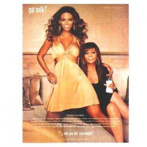 BEYONC� & TINA KNOWLES got milk? Milk Mustache Magazine Ad © 2006
