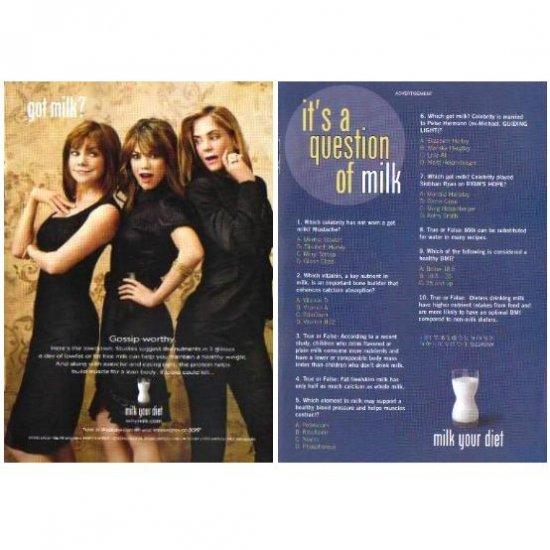 BOBBIE EAKES ET AL and IT�S A QUESTION OF MILK got milk? Milk Mustache 2-Sided Magazine Ad © 2008