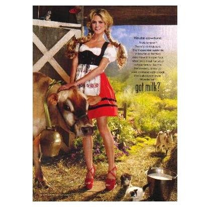 HEIDI KLUM ON THE FARM got milk? Milk Mustache Magazine Ad © 2008