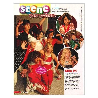 HIGH SCHOOL MUSICAL got milk? Milk Mustache Photo Shoot Magazine Article ca 2007