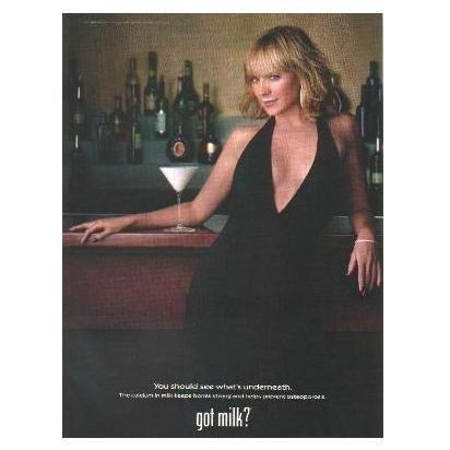 KIM CATTRALL got milk? Milk Mustache Magazine Ad © 2002